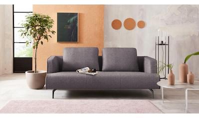 hülsta sofa 3,5-Sitzer »hs.440«, wahlweise in Stoff oder Leder, Gussfüße umbragrau kaufen