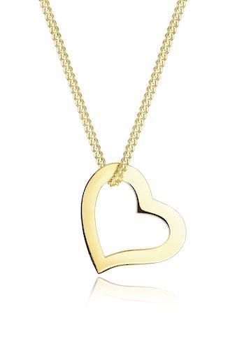 Elli Kette mit Anhänger »Herz Liebe Filigran 375 Gelbgold« kaufen
