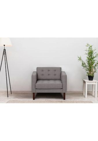 GEPADE Loungesessel, mit wengefarbenen Holzfüße kaufen