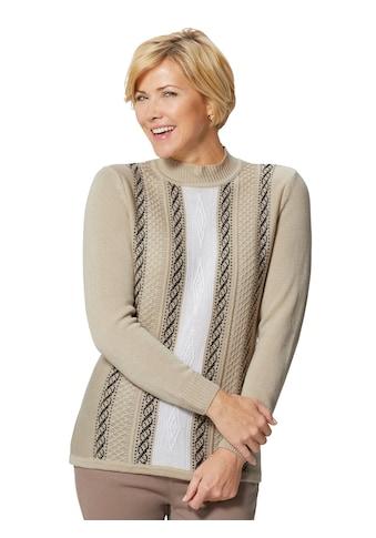 Classic Basics Pullover mit Jacquardmuster im Vorderteil kaufen