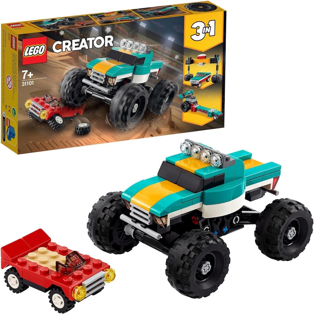 LEGO® Konstruktionsspielsteine »Monster-Truck(31101), LEGO® Creator«, (163 St.), Made in Europe