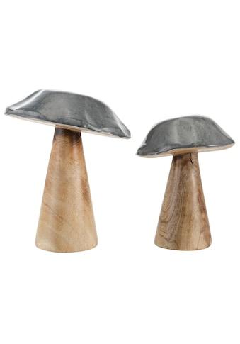 Dekofigur »Pilz«, aus Mangoholz kaufen