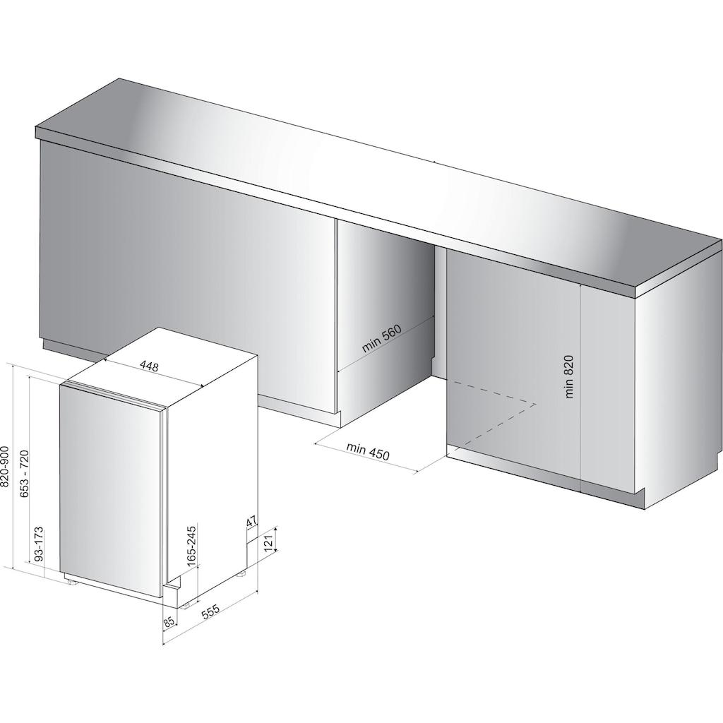 BAUKNECHT vollintegrierbarer Geschirrspüler »BSIO 3O35 PFE X«, BSIO 3O35 PFE X, 10 Maßgedecke