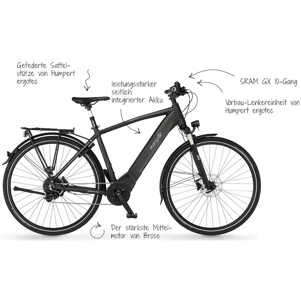 FISCHER Fahrräder E-Bike »VIATOR H 6.0i«, 10 Gang, SRAM, GX10, Mittelmotor 250 W