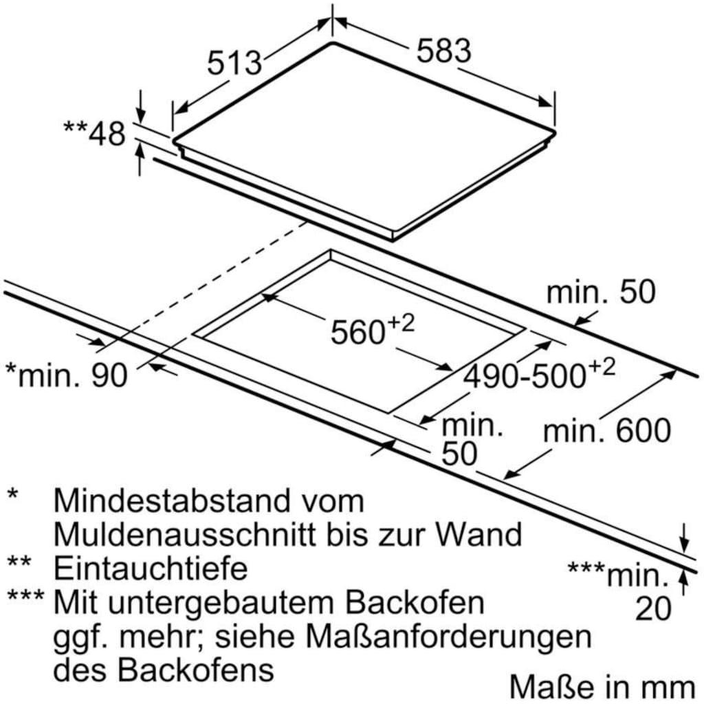 SIEMENS Elektro-Kochfeld von SCHOTT CERAN® »ET645HN17E«, ET645HN17E
