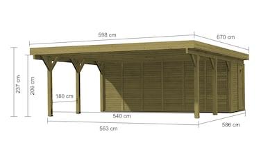 KARIBU Set: Doppelcarport »Classic 2«, BxT: 598x670 cm kaufen