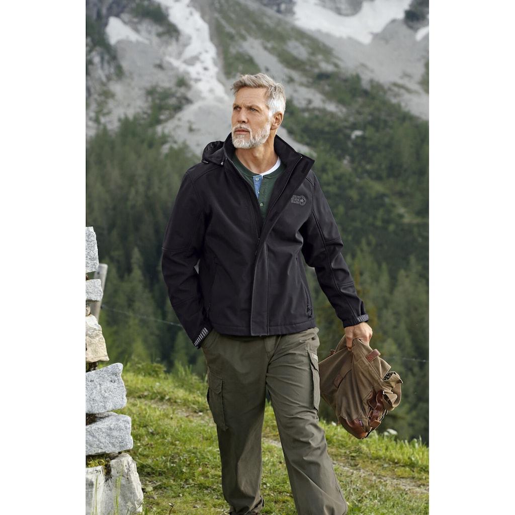 Jan Vanderstorm Softshelljacke »MENNE«, wind- und wasserabweisend