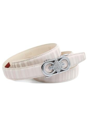Anthoni Crown Ledergürtel, Gürtel aus innovativem Leder mit Designer Schließe kaufen