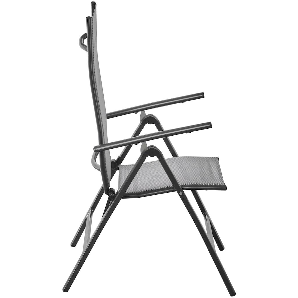 MERXX Gartenmöbelset »Amalfi«, (7 tlg.), 6 Stühle mit Tisch