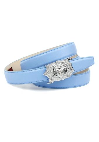 """Anthoni Crown Ledergürtel, in hellblau mit """"Spider"""" kaufen"""