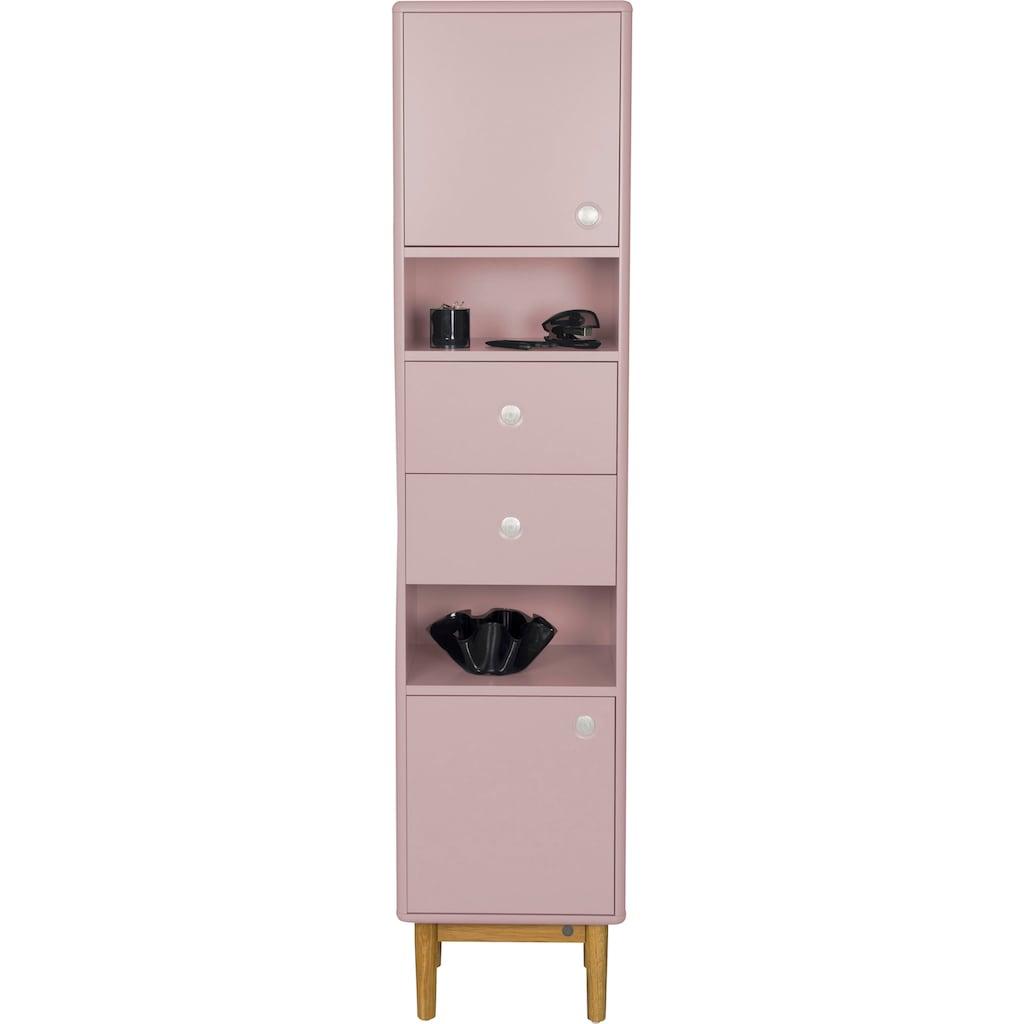 TOM TAILOR Aktenschrank »COLOR OFFICE«, mit 2 Türen & 2 Schubladen, mit Push-to-Open, mit Füßen in Eiche geölt, Breite 40 cm