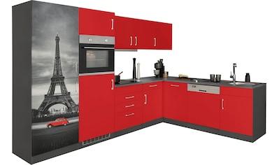 HELD MÖBEL Winkelküche »Paris«, mit E-Geräten, Stellbreite 290/220 cm, wahlweise mit... kaufen