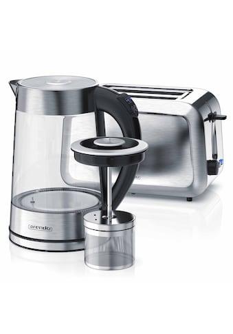 Arendo Frühstücks-Set »Wasserkocher (mit Teesieb) & Toaster«, 2-teilig in Edelstahloptik kaufen
