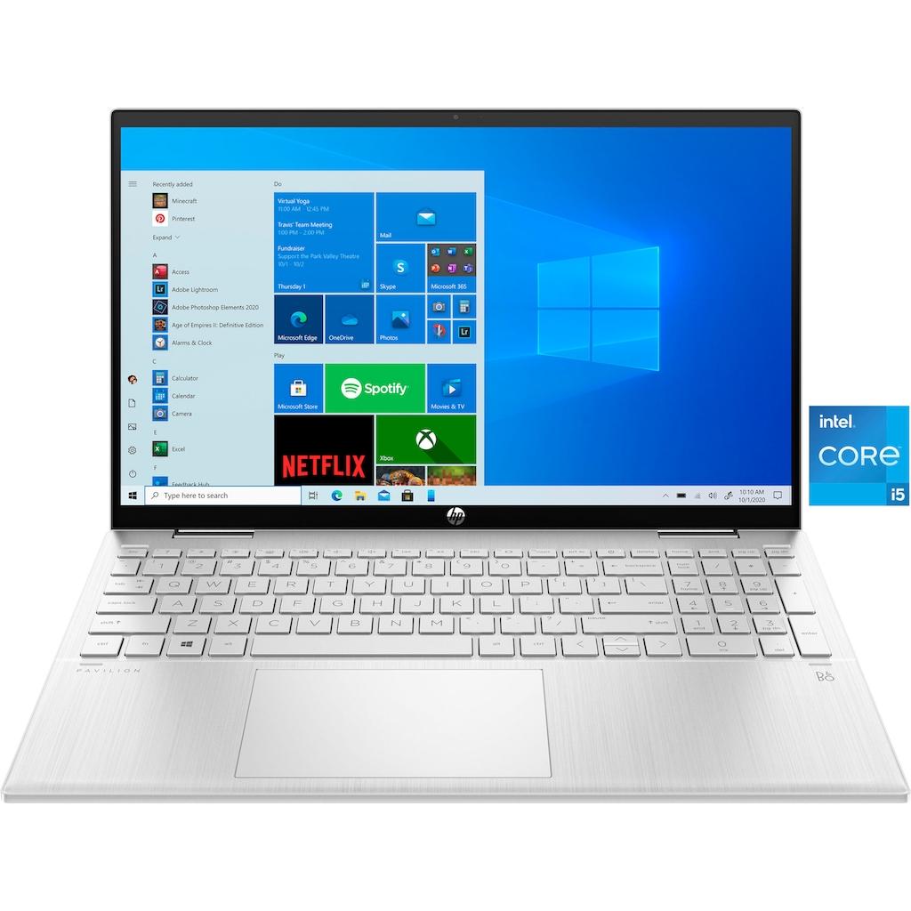 "HP Convertible Notebook »Pavilion x360 Convertible 15-er0200ng«, (39,6 cm/15,6 "" Intel Core i5 Iris© Xe Graphics\r\n 512 GB SSD), Kostenloses Upgrade auf Windows 11, sobald verfügbar"