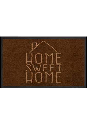 HANSE Home Fußmatte »Sweet Home«, rechteckig, 5 mm Höhe, Fussabstreifer, Fussabtreter, Schmutzfangläufer, Schmutzfangmatte, Schmutzfangteppich, Schmutzmatte, Türmatte, Türvorleger, mit Spruch, In- und Outdoor geeignet, waschbar kaufen