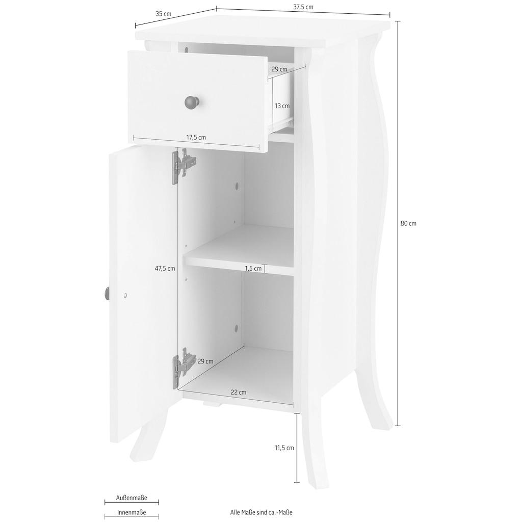 Home affaire Unterschrank »Ludwig«, mit Griffe aus Metall, Breite 37,5 cm, Höhe 80 cm