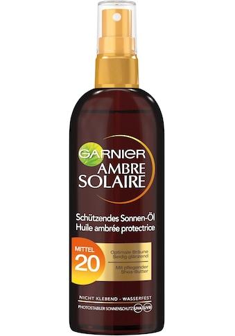 GARNIER Sonnenschutzöl »Ambre Solaire Bräunungsöl-Spray LSF 20« kaufen