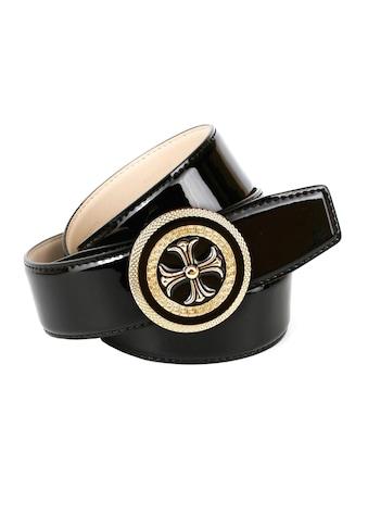 Anthoni Crown Ledergürtel, mit runder Schließe im Mustermix kaufen