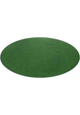 Rasenteppich »Kunstrasen Field«, Nadelfilz mit Noppen in grün kaufen