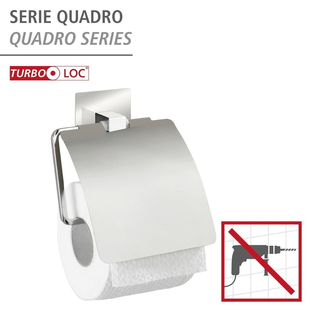 WENKO Toilettenpapierhalter »Turbo-Loc Quadro«