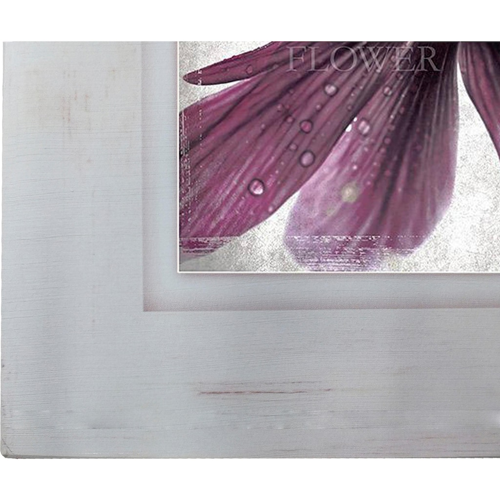 Home affaire Holzbild »Lila Blüte I«, 40/40 cm