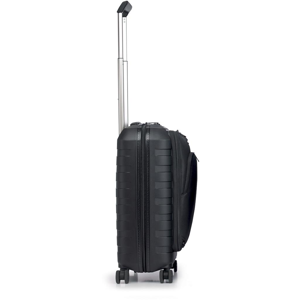 RONCATO Hartschalen-Trolley »D-Box, 55 cm«, 4 Rollen, inkl. herausnehmbarer Vordertasche; Made in Europe