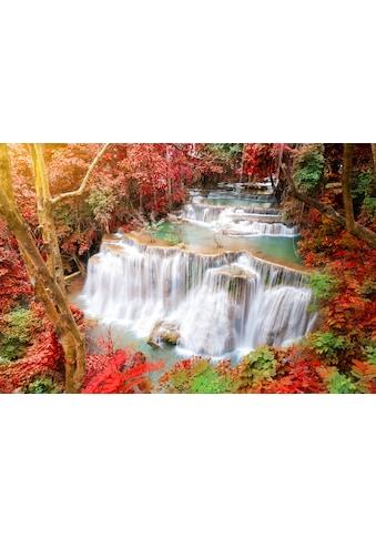 Papermoon Fototapete »Huay Mae Kamin Autumn Waterfall« kaufen