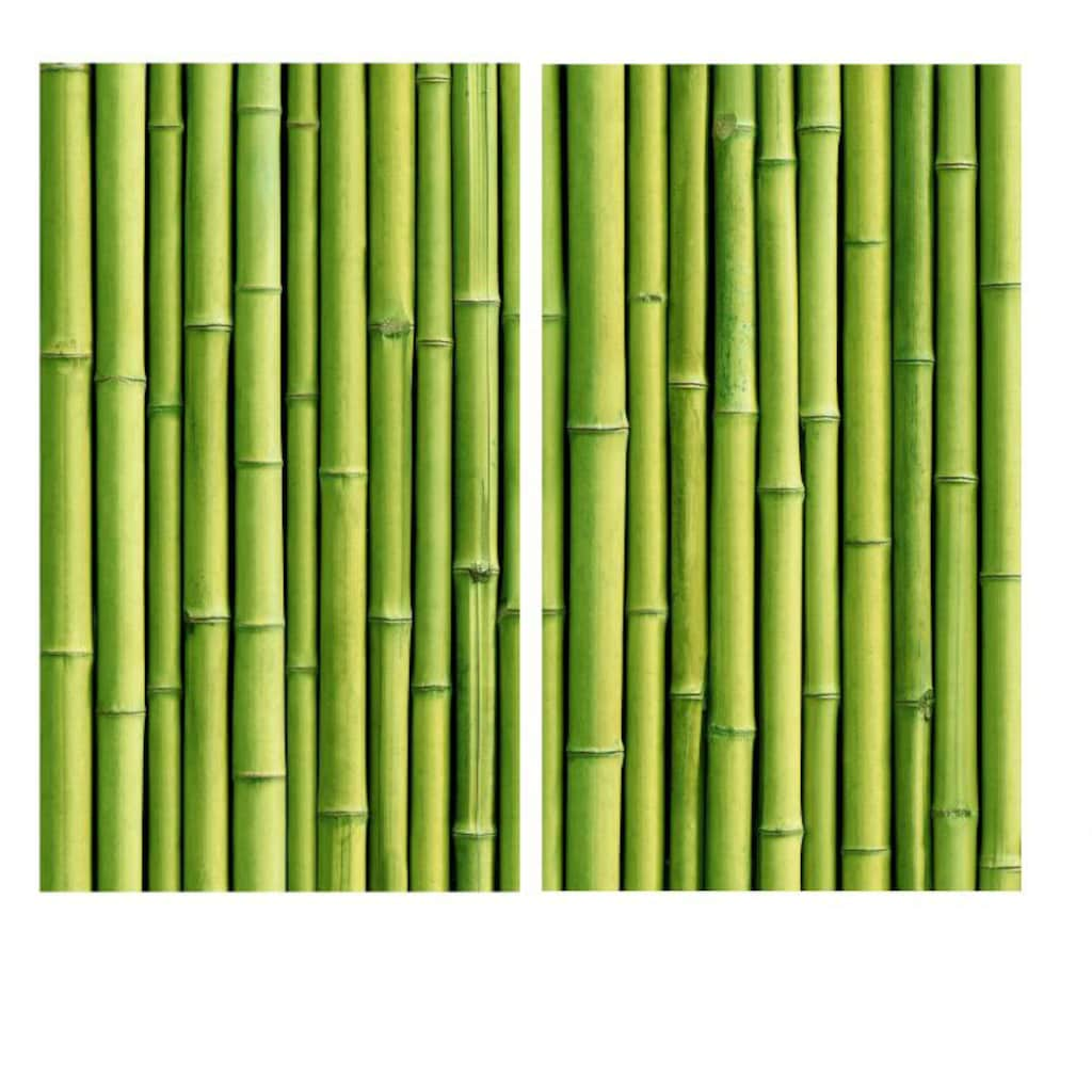 Wall-Art Herd-Abdeckplatte »Küche Herdabdeckplatte Bambus«, (Set, 2 tlg.)