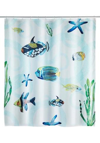 WENKO Duschvorhang »Aquaria«, Breite 180 cm, Höhe 200 cm, Polyester, waschbar kaufen