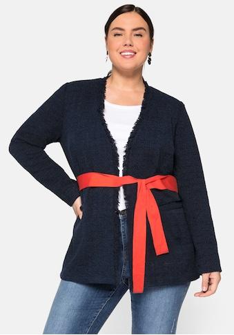 Sheego Jackenblazer, mit Taschen, in Bouclé-Optik kaufen