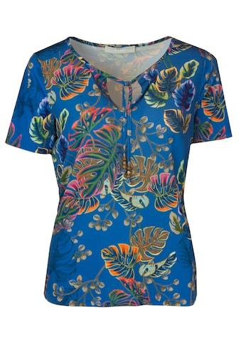 bianca Print-Shirt »IFFI«, cooler Jungle-Print mit Schnürrung am Ausschnitt kaufen