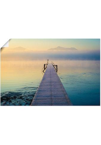 Artland Wandbild »Sonnenaufgang am Chiemsee«, Seebilder, (1 St.), in vielen Größen &... kaufen