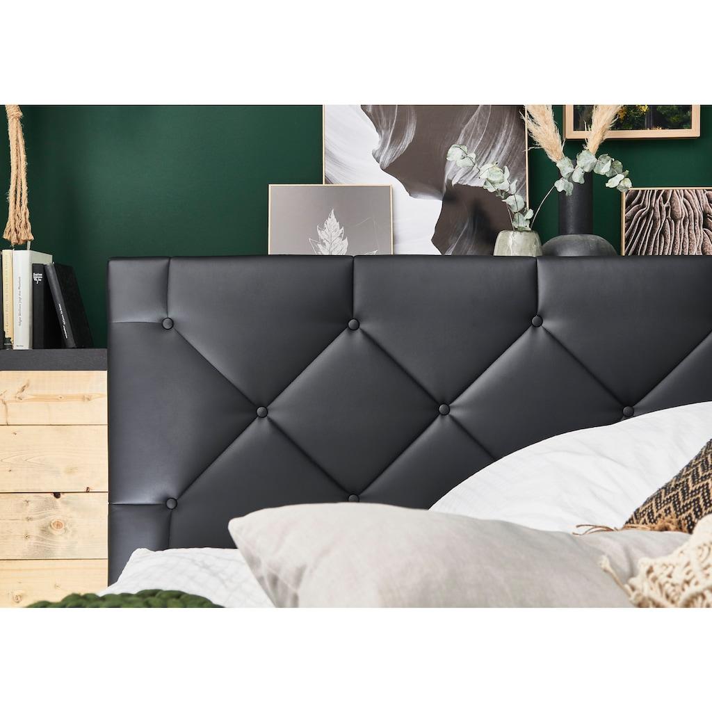 ATLANTIC home collection Boxbett, mit XXL-Bettkasten und Topper