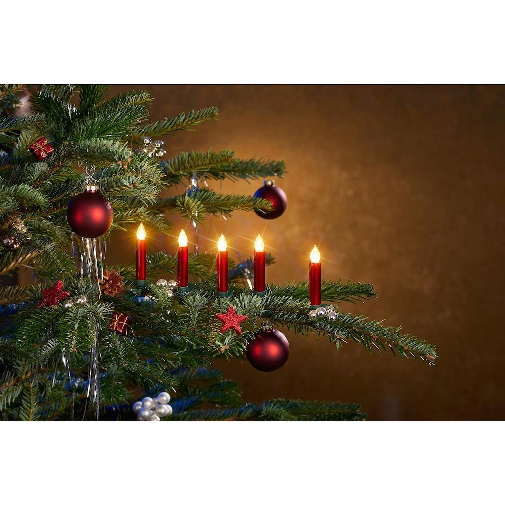 BONETTI LED-Christbaumkerzen, kabellos, 25 Kerzen plus Zubehör