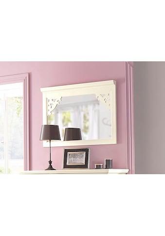 Premium collection by Home affaire Spiegel »Arabeske«, mit schönen kleinen gefrästen Holzverzierungen auf den Spiegelecken, Breite 99 cm kaufen