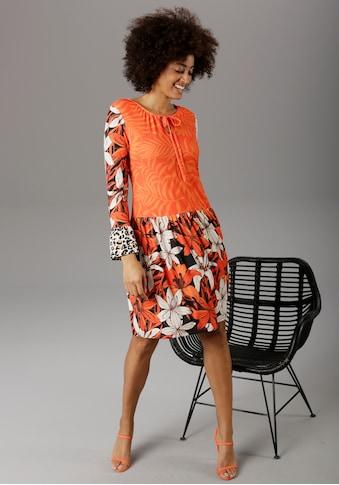 Aniston SELECTED Sommerkleid, im modischen Mix&Match-Druck kaufen