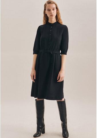 seidensticker Sommerkleid »Schwarze Rose«, 3/4-Arm Kragen Uni kaufen