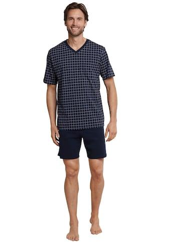 Schiesser Shorty, (Set), karierter Pyjama kurz kaufen