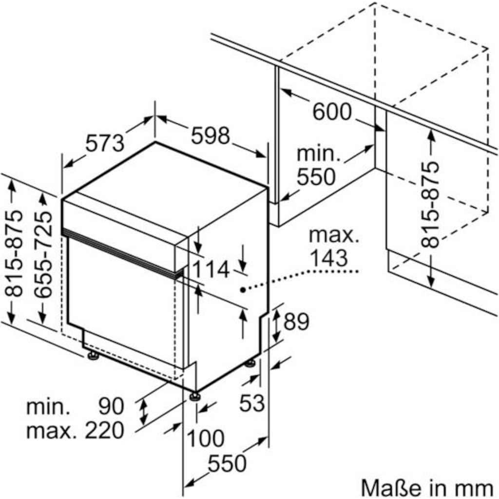 SIEMENS teilintegrierbarer Geschirrspüler »iQ300 SN536S00EE«, iQ300, SN536S00EE, 13 Maßgedecke