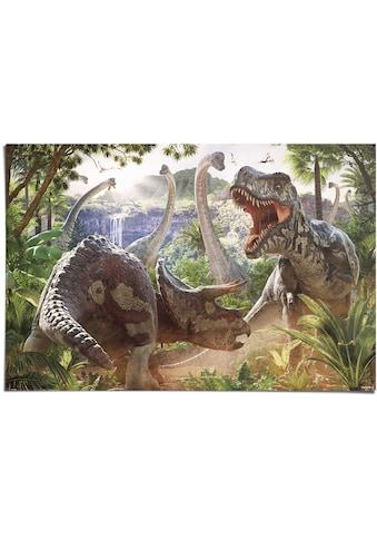 Reinders! Poster »Poster Kampf der Dinosaurier«, Dinosaurier, (1 St.) kaufen