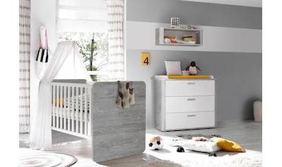 Babymöbel-Set »Aarhus«, (Spar-Set, 2 tlg.), Bett + Wickelkommode kaufen