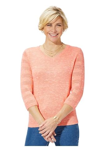 Classic Basics Pullover in Melange - Optik kaufen
