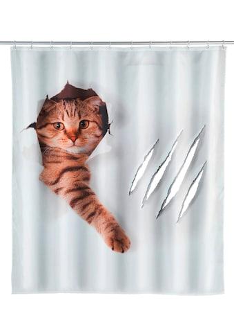 WENKO Duschvorhang »Cute Cat«, Breite 180 cm, Höhe 200 cm, Polyester, waschbar kaufen