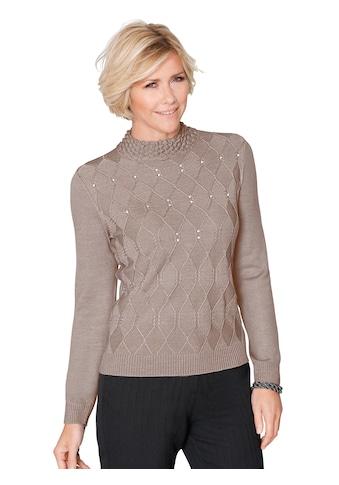 Classic Pullover mit dekorativen Glitzersteinchen kaufen