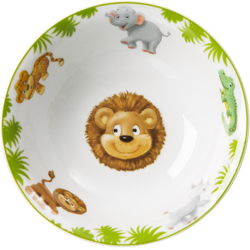 Ritzenhoff & Breker Kindergeschirr-Set »Dschungeltiere«, (Set, 4 tlg.)