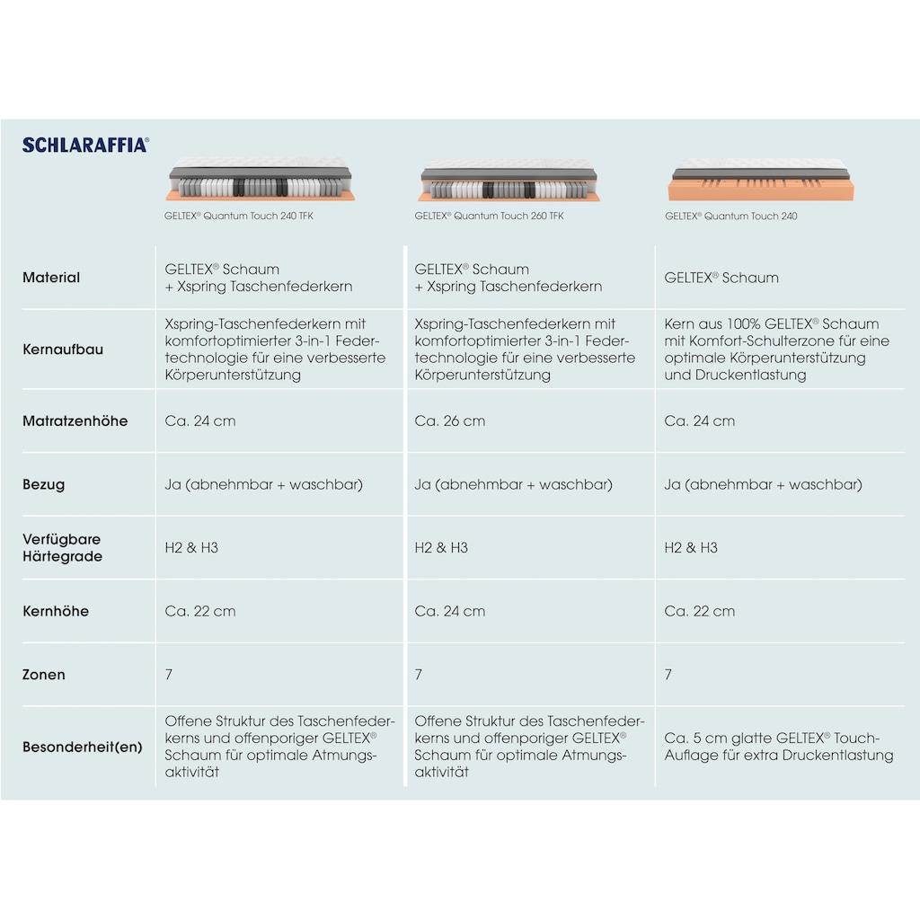 Schlaraffia Gelschaummatratze »GELTEX® Quantum Touch 240 TFK«, 24 cm cm hoch, Raumgewicht: 45 kg/m³, 420 Federn, (1 St.), 90 Nächte Probeschlafen!*