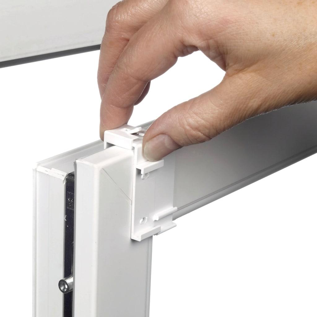 GARDINIA Seitenzugrollo »EASYFIX Rollo Dekor Stickerei«, Lichtschutz, ohne Bohren, im Fixmaß