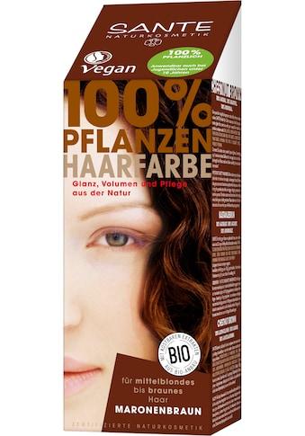 SANTE Haarfarbe »Pflanzenhaarfarbe maronenbraun« kaufen