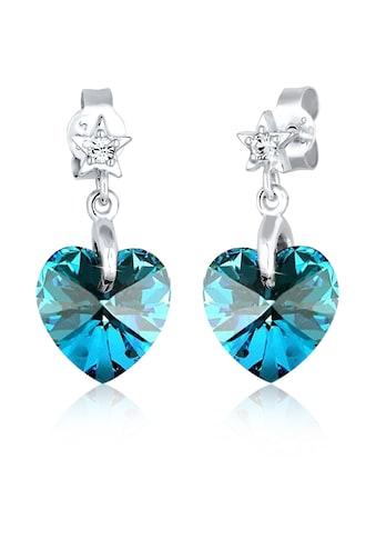 Elli Paar Ohrhänger »Herz Stern Astro Kristalle Silber« kaufen