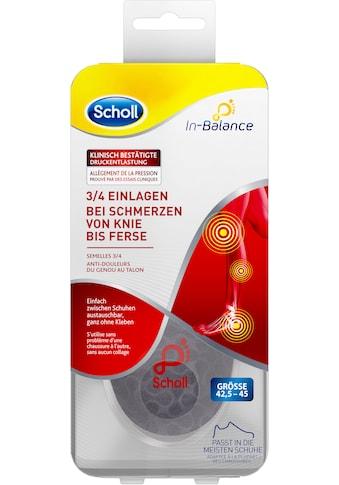 Scholl Einlegesohlen »In-Balance 3/4 bei Schmerzen von Knie bis Ferse«, in 3 Größen S... kaufen
